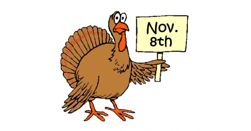 Thanksgiving Dinner November 8, 2017