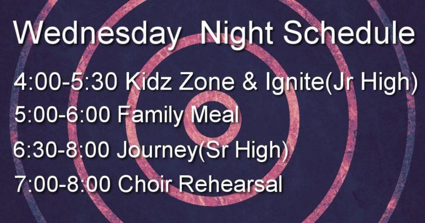 Wednesday Night Schedule