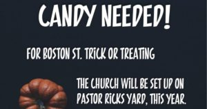 candy donations needed