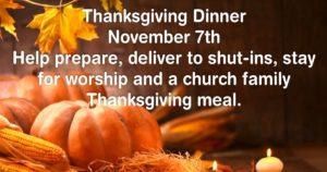 2018 Thanksgiving dinner
