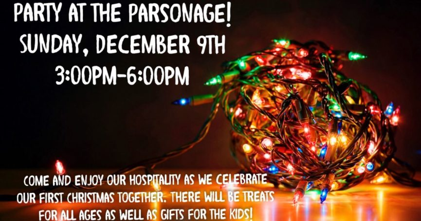 Party at the Parsonage December 9, 2018