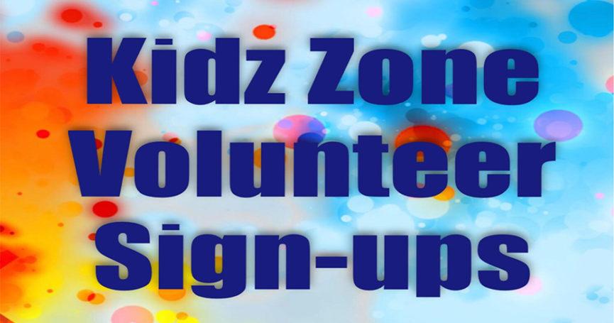 Kidz Zone volunteers