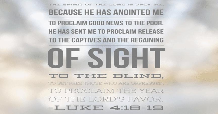 Worship January 27, 2019 Luke 4:14-21