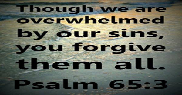 Psalm 65:3
