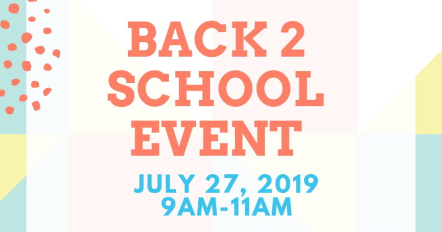 Back 2 School Event July 27, 2019