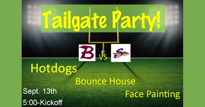 Tailgate Party September 13, 2019