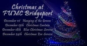 2019 Christmas events at FUMC Bridgeport