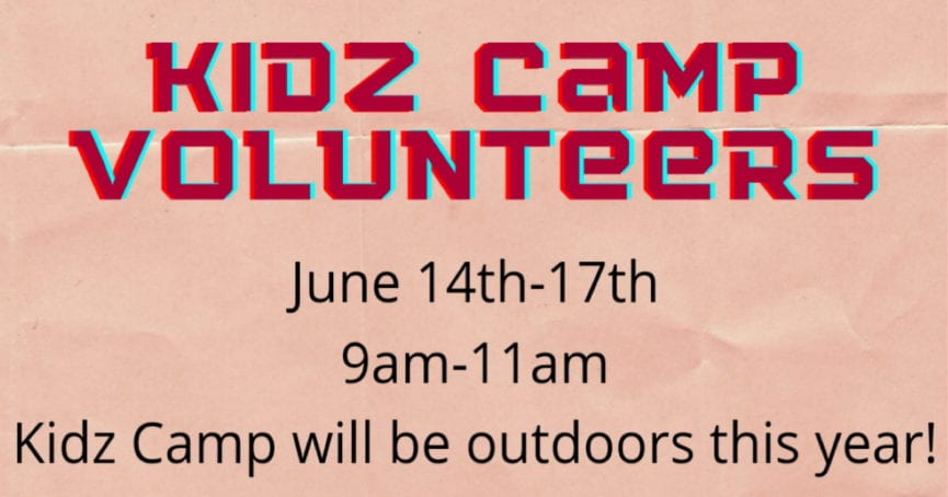 Kidz Camp volunteers