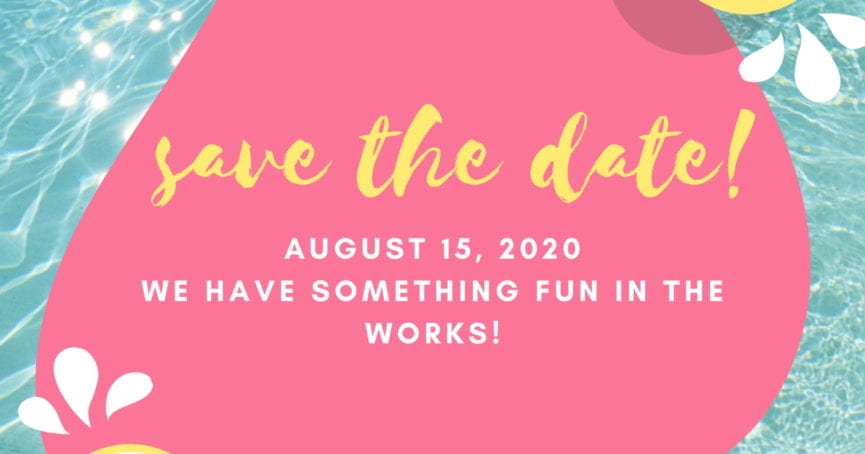 Save the Date August 15, 2020