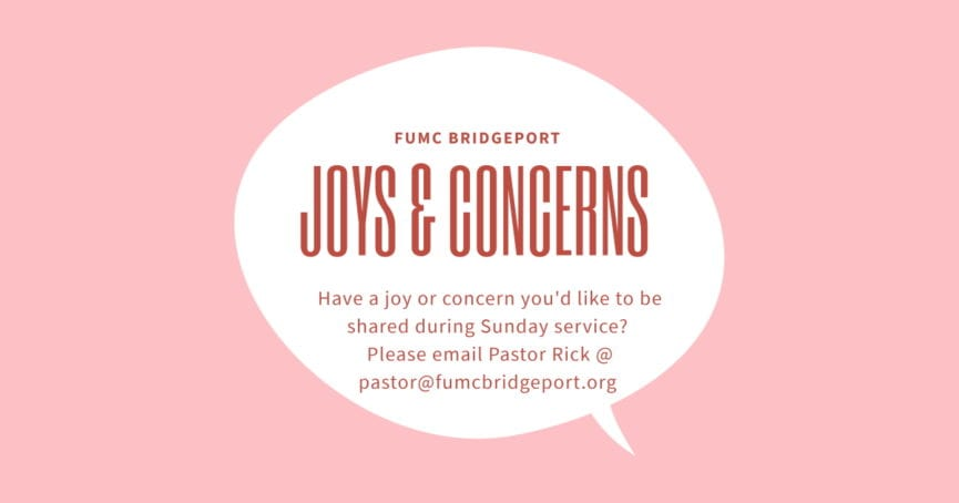 joys and concerns